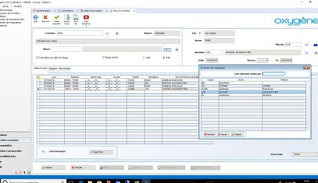 Capture d'écran Memsoft Centre de Formation Oxygène 10