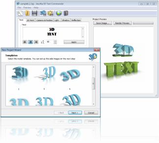 Capture d'écran Insofta 3D Text Commander