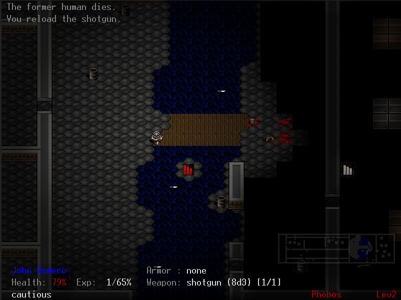 Capture d'écran Doom : The Roguelike Linux