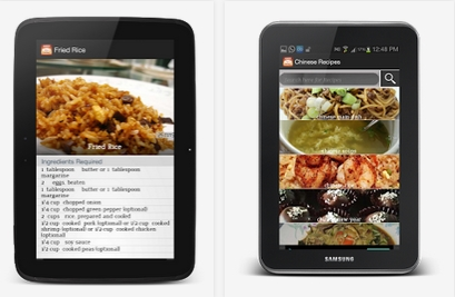 Capture d'écran Recettes chinoises gratuites Android