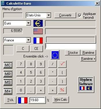 Capture d'écran Calculette Euro