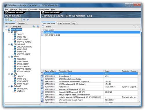 Capture d'écran Remote Installer Starter