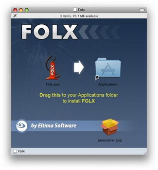 Capture d'écran Folx