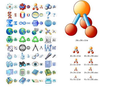 Capture d'écran Science Icon Set