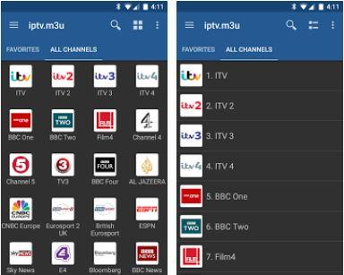 Capture d'écran IPTV Android