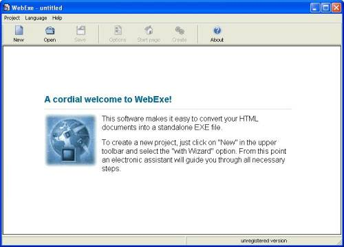 Capture d'écran WebExe