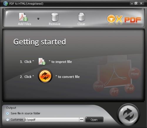 Capture d'écran PDF en HTML Convertisseur