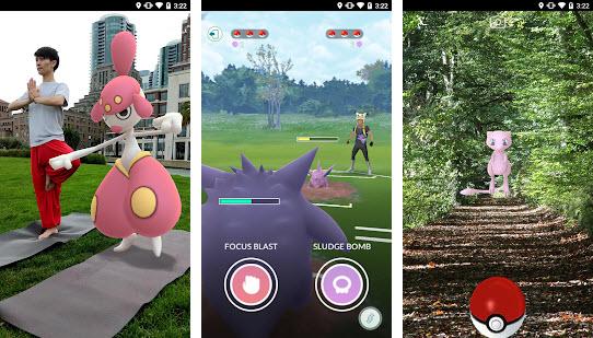 Capture d'écran Pokemon Go Android
