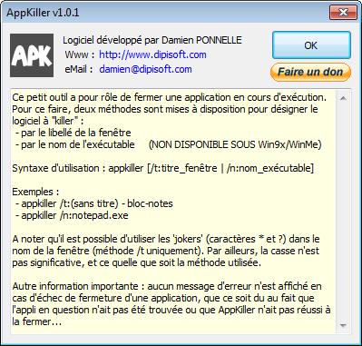 Capture d'écran AppKiller v1.0.2