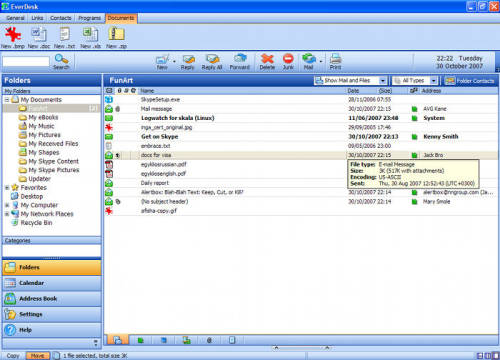 Capture d'écran EverDesk Google Edition