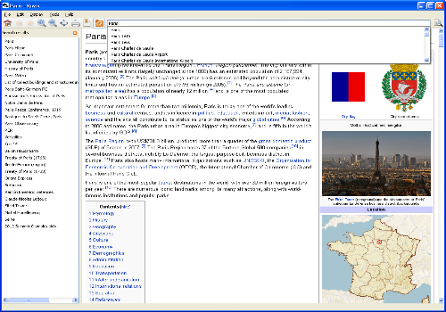 Capture d'écran Kiwix Linux