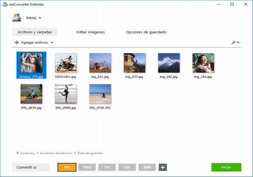 Capture d'écran reaConverter Estándar