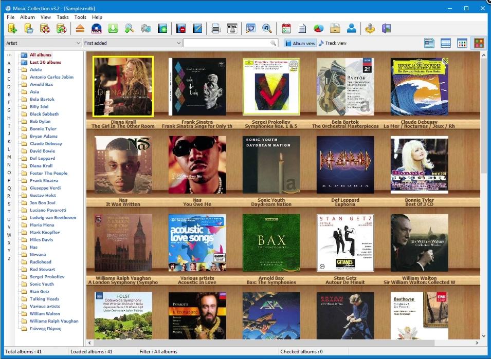 Capture d'écran Music Collection