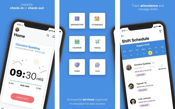 Capture d'écran Zoho People iOS