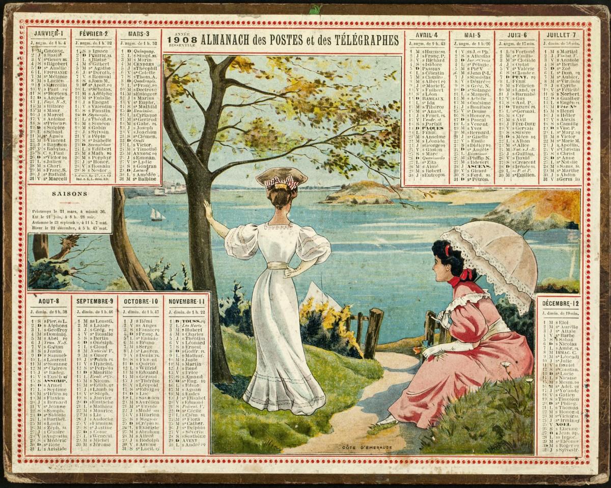 Capture d'écran Pack de calendriers vintage 1908 – 2020