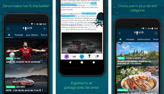 Capture d'écran Squid Android