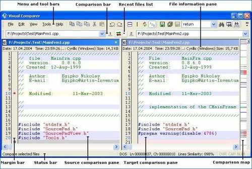Capture d'écran Visual Comparer