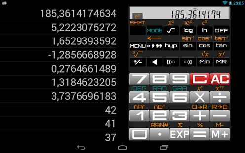 Capture d'écran Scientific Calculator