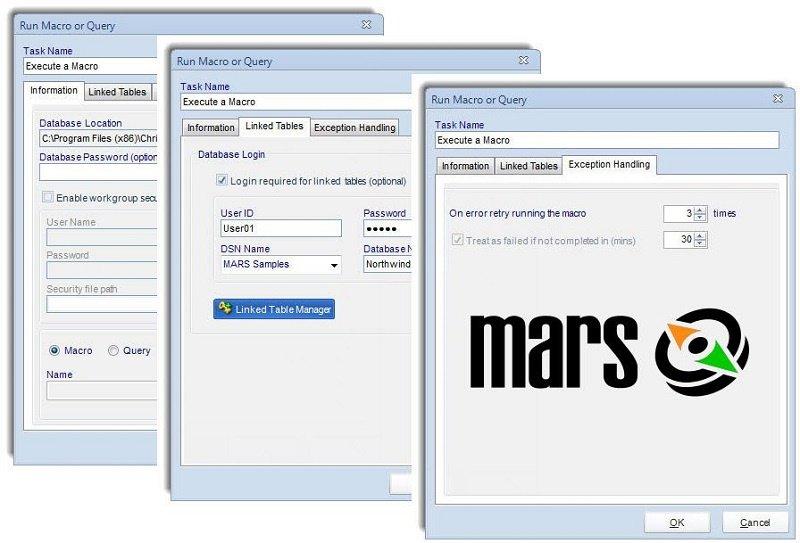 Capture d'écran MARS Automation For MS Access 7.0.20180517.0