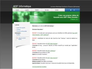 Capture d'écran ADIF Catdisque