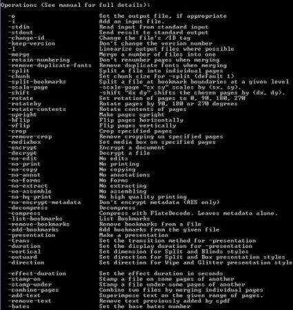 Capture d'écran Coherent PDF Command Line Tools