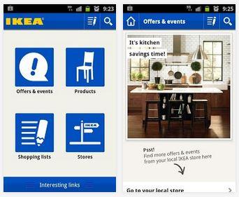 Capture d'écran IKEA iOS