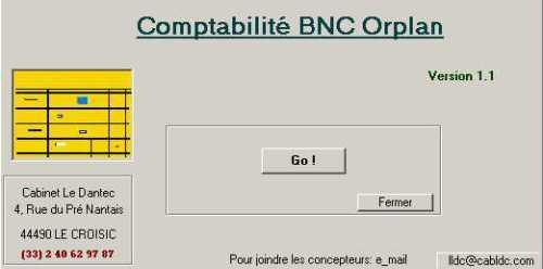 Capture d'écran Orplan Compta BNC