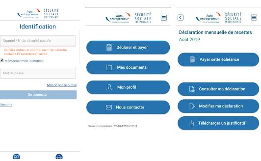 Capture d'écran AutoEntrepreneur Urssaf Android