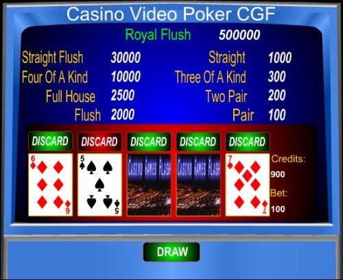 Capture d'écran Casino Video Poker CGF