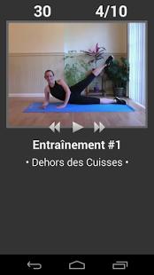 Capture d'écran Exercices Quotidien Jambes