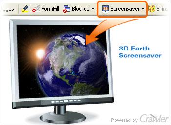 Capture d'écran Crawler 3D Earth Screensaver
