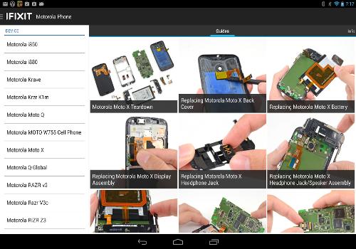 Capture d'écran iFixit Android