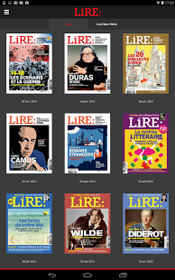 Capture d'écran Lire – Magazine