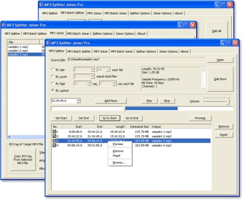 Capture d'écran MP3 Splitter Joiner Pro