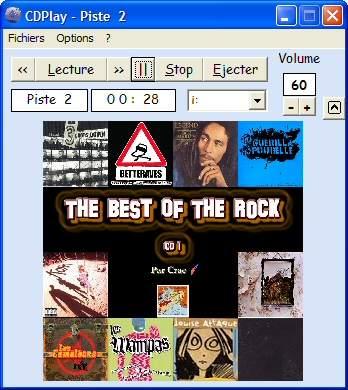 Capture d'écran CDPlay