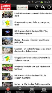 Capture d'écran Centre Presse Aveyron
