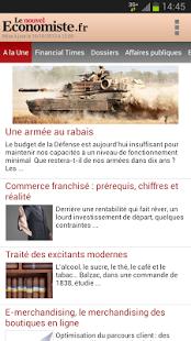 Capture d'écran Le nouvel Economiste.fr