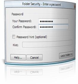Capture d'écran Folder Encryption