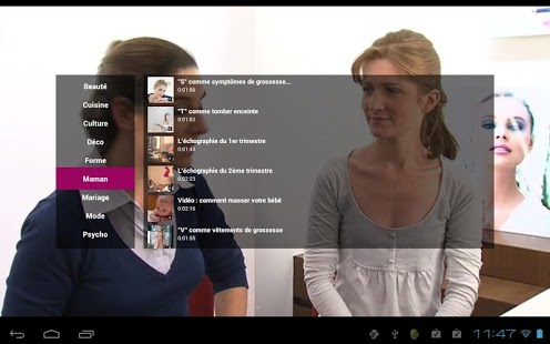 Capture d'écran Aufeminin.tv video mode beauté