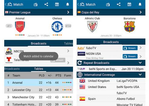 Capture d'écran Live Soccer TV Android
