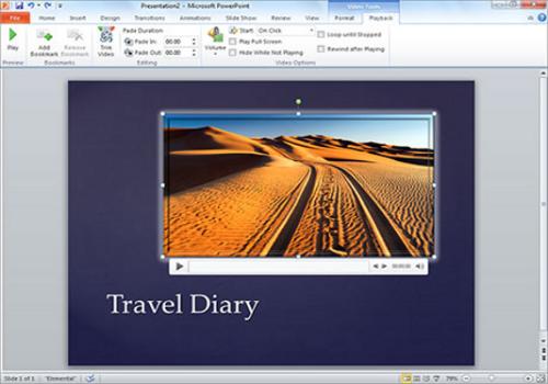 Capture d'écran Microsoft PowerPoint 2016