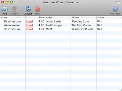 Capture d'écran Macsome iTunes Converter for Mac
