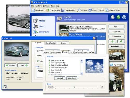 Capture d'écran SCR Builder 3