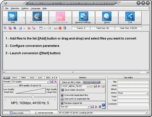 Capture d'écran 123 Audio Converter