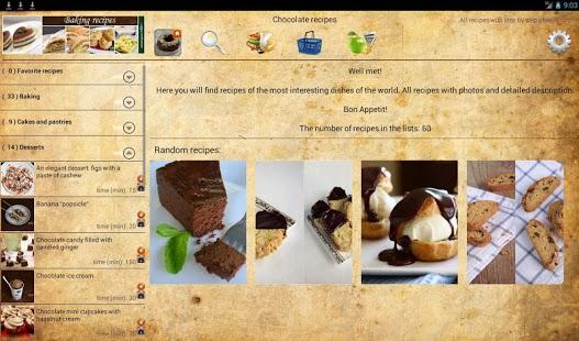 Capture d'écran Chocolate recipes