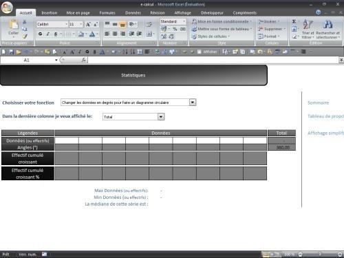 Capture d'écran e-calcul