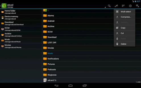 Capture d'écran ZArchiver