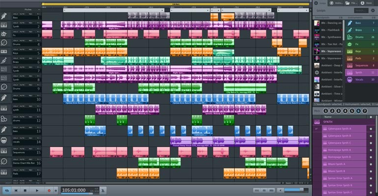 Capture d'écran MAGIX Music Maker Premium