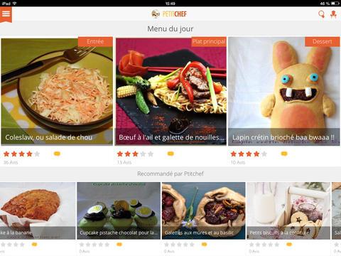 Capture d'écran Ptitchef Android