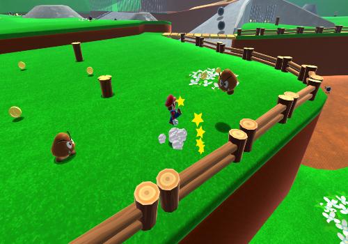 Capture d'écran Super Mario 64 HD